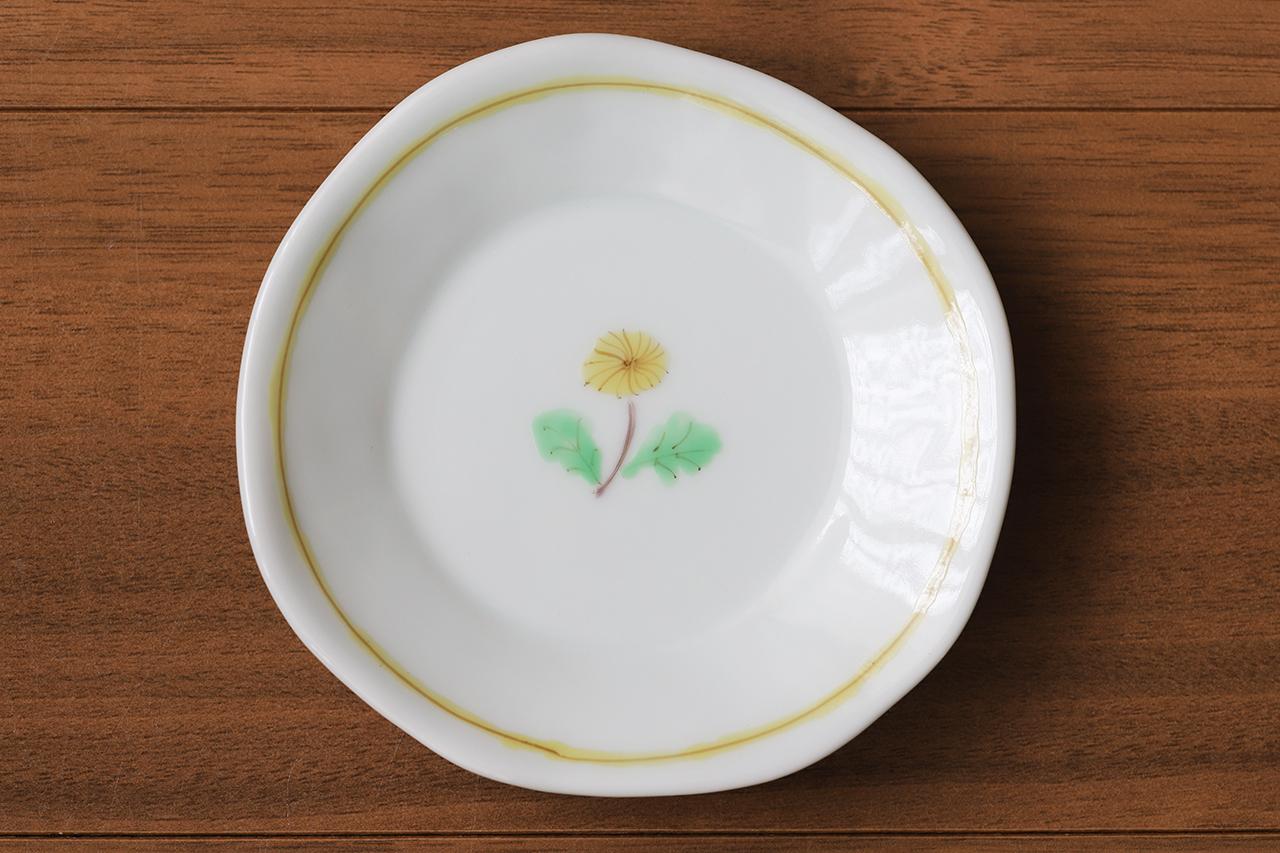 藍水 一つ花タンポポ 豆皿 うつわ藍水 波佐見焼