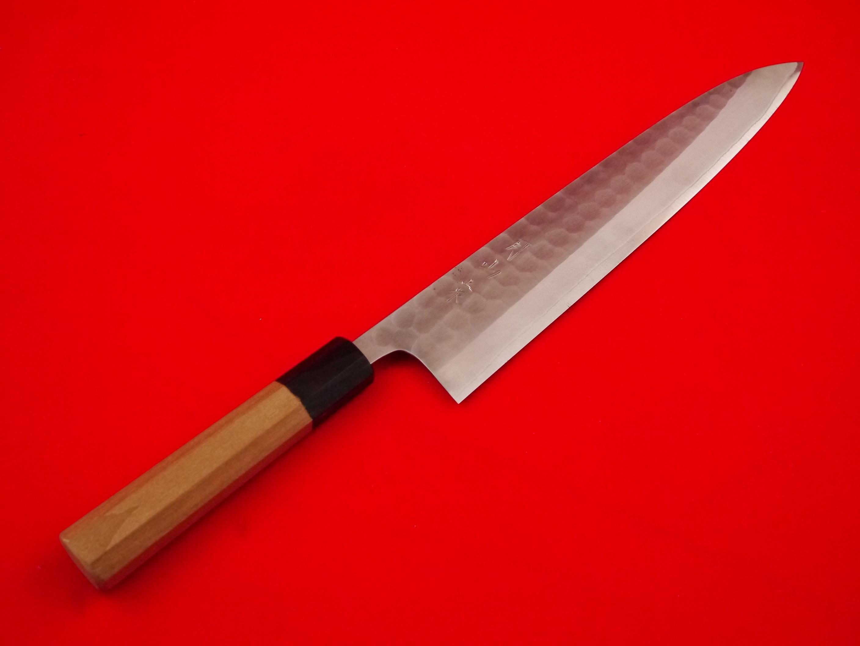 和牛刀槌目白ステン合せ上作八寸(240㎜)鞘付き