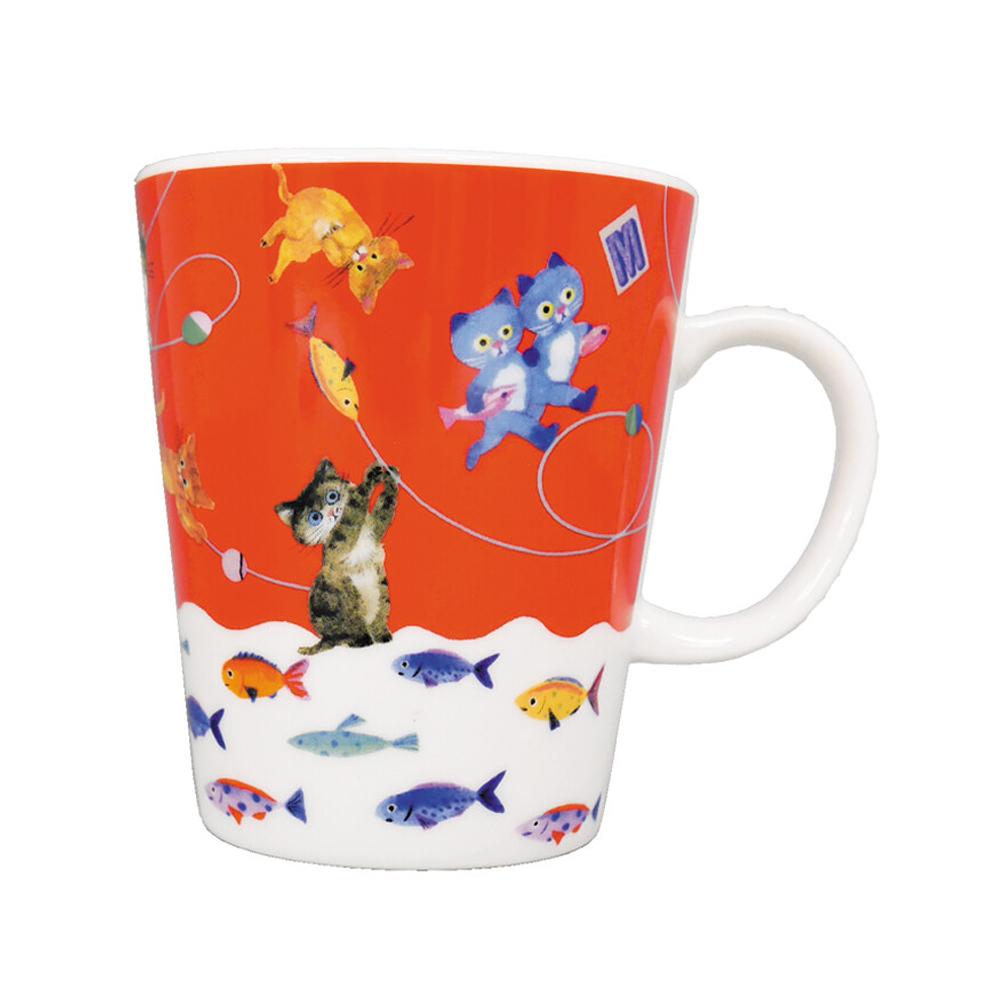 猫マグカップ(エクートミネットスマートマグ)おさかな