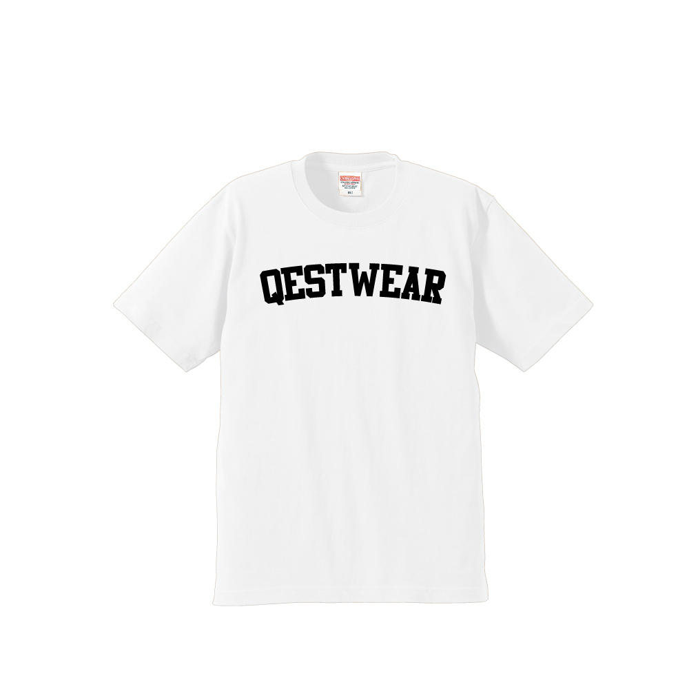 Qestwear Simple Logo T Shirt / White - 画像1