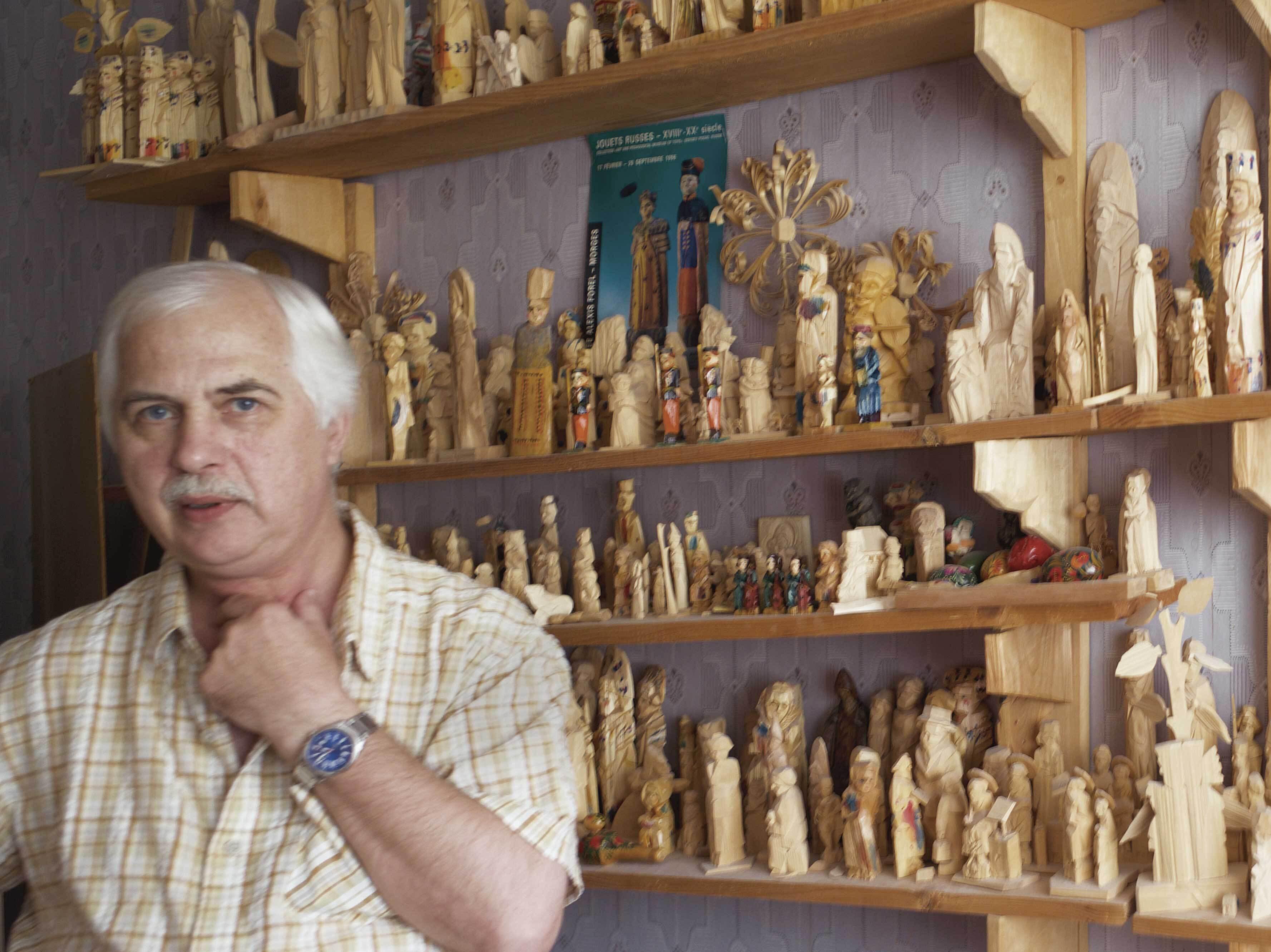 木彫のロシア聖人(アレクサンドル・バルガノフ作)