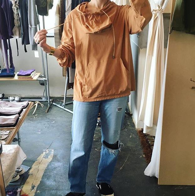 【 etto 】エット cotton100% 長袖 ANORAK PARKA terracotta