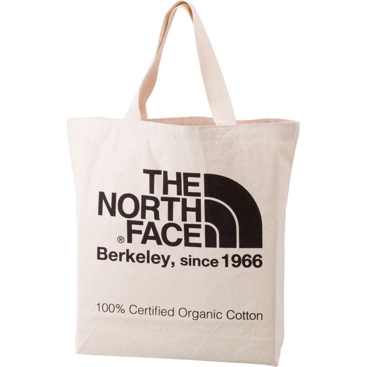 THE NORTH FACE (ザノースフェイス) TNFオーガニックコットントート (NK)ナチュラル×ブラック