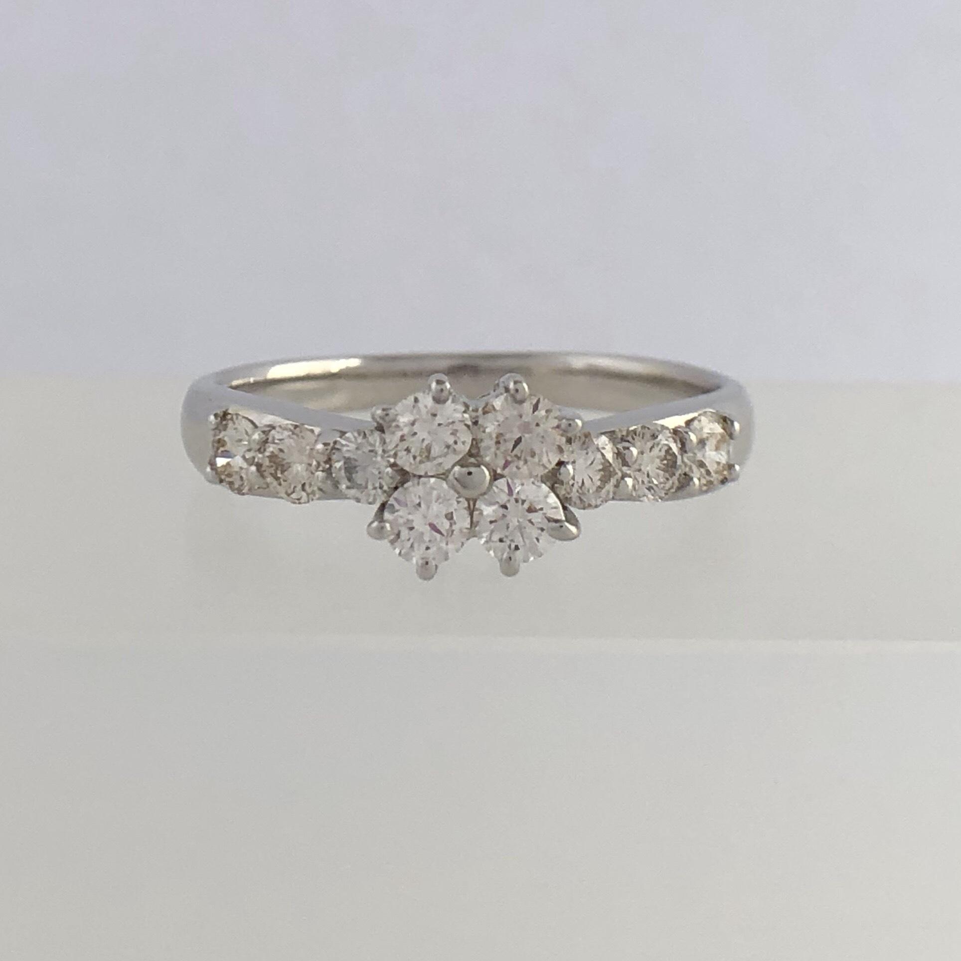 ハート& キューピッド ダイヤモンド リング 1259973 0.50ct プラチナ チェカ 鑑別書付