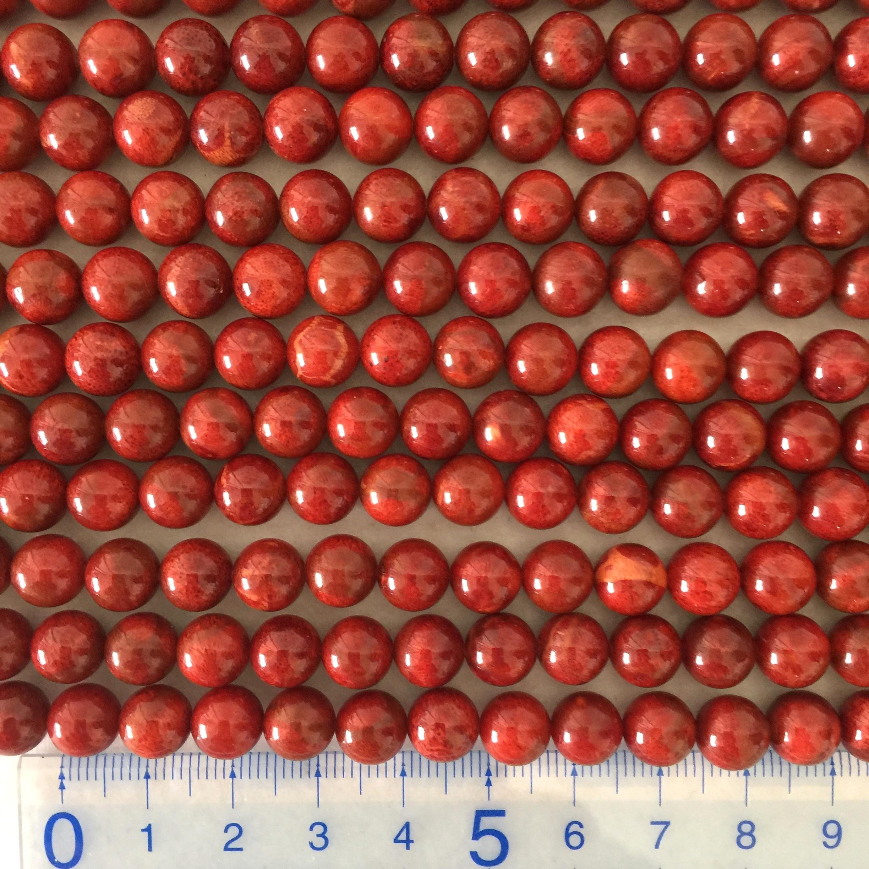 スポンジサンゴ 約8~8.5mm 特濃色 連材【190020AA】