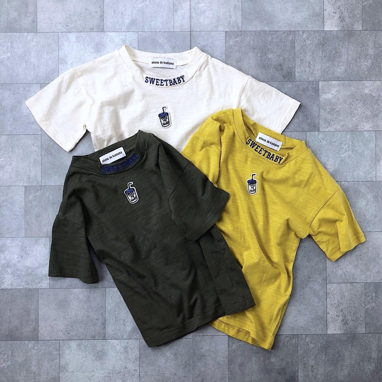 刺繍ワッペンTシャツ(3カラー)no.805064