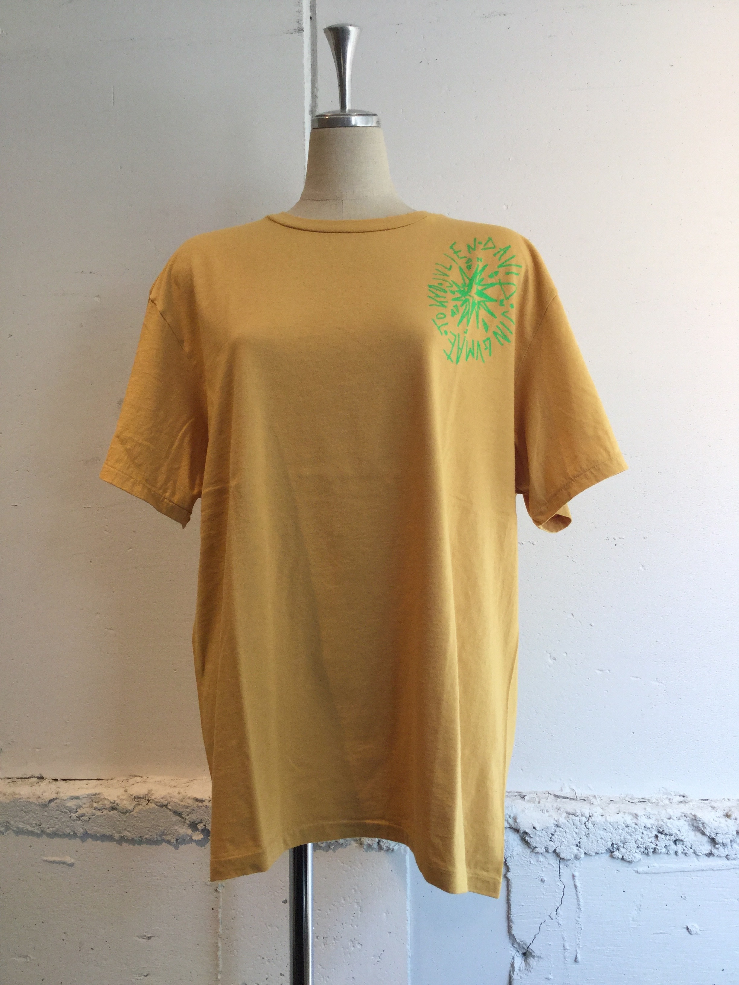 JULIEN DAVID Printed T-shirt COMPASS (YELLOW)