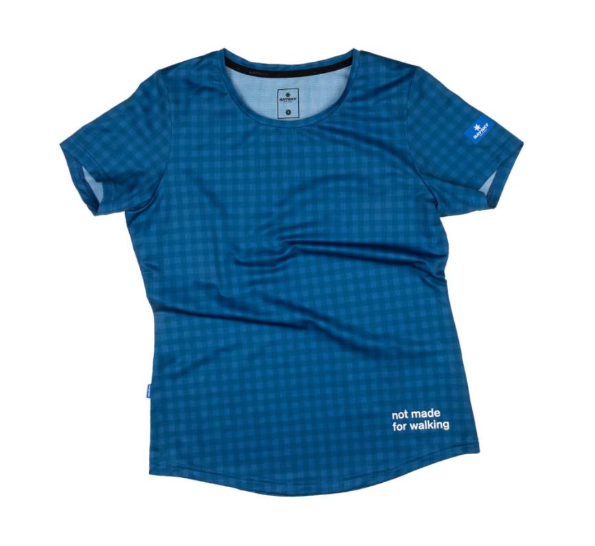 【10%OFF】SAYSKY セイスカイ ランニングTシャツ Wmns Checker Combat Tee - BLUE CHECKERBOARD  [レディーズ] FGRSS01