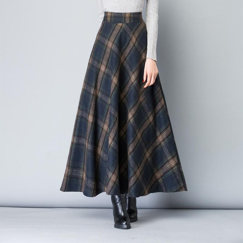 【ボトムス】チェック柄ファッションスカート24173001