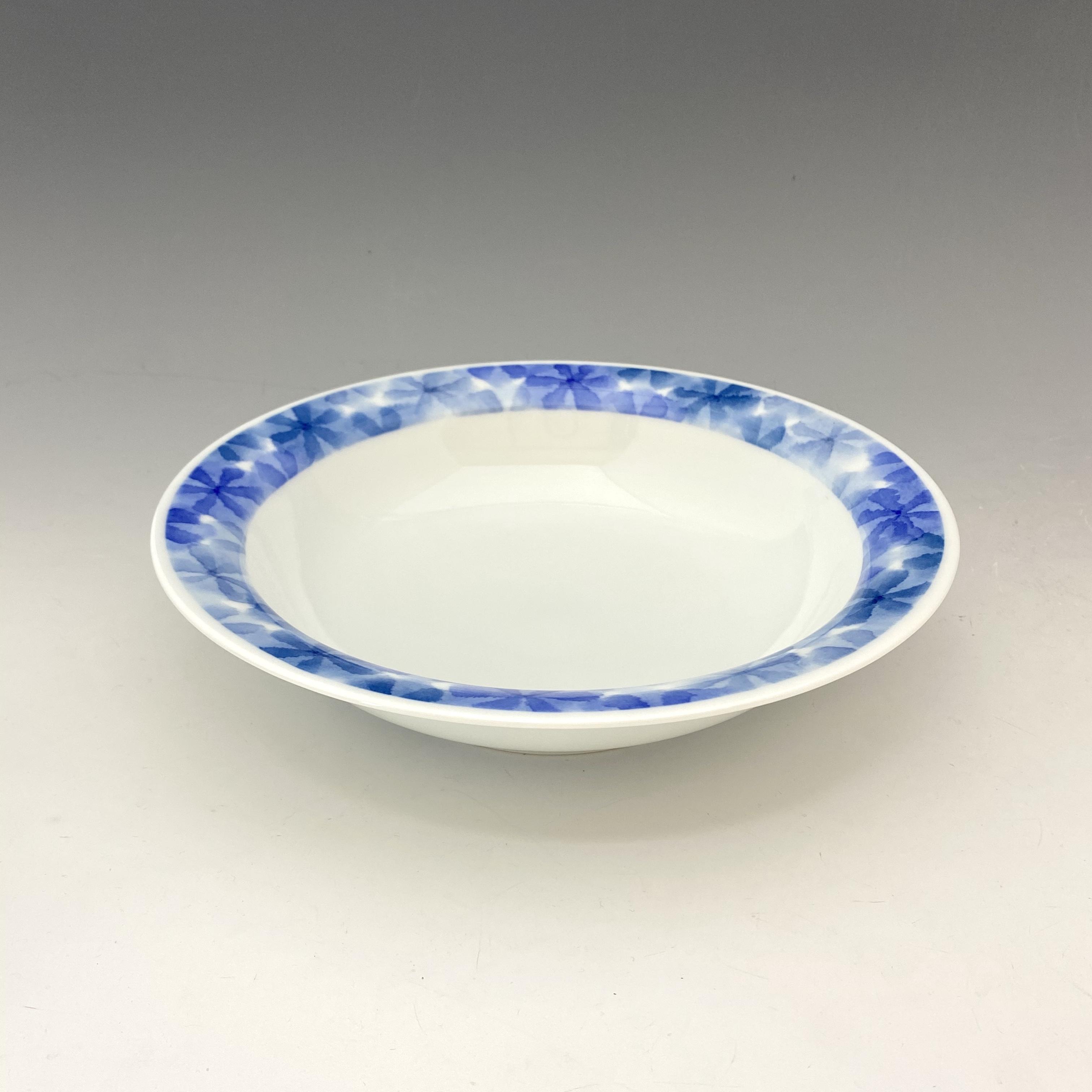 【中尾英純】和紙染ちぎり花文カレー皿