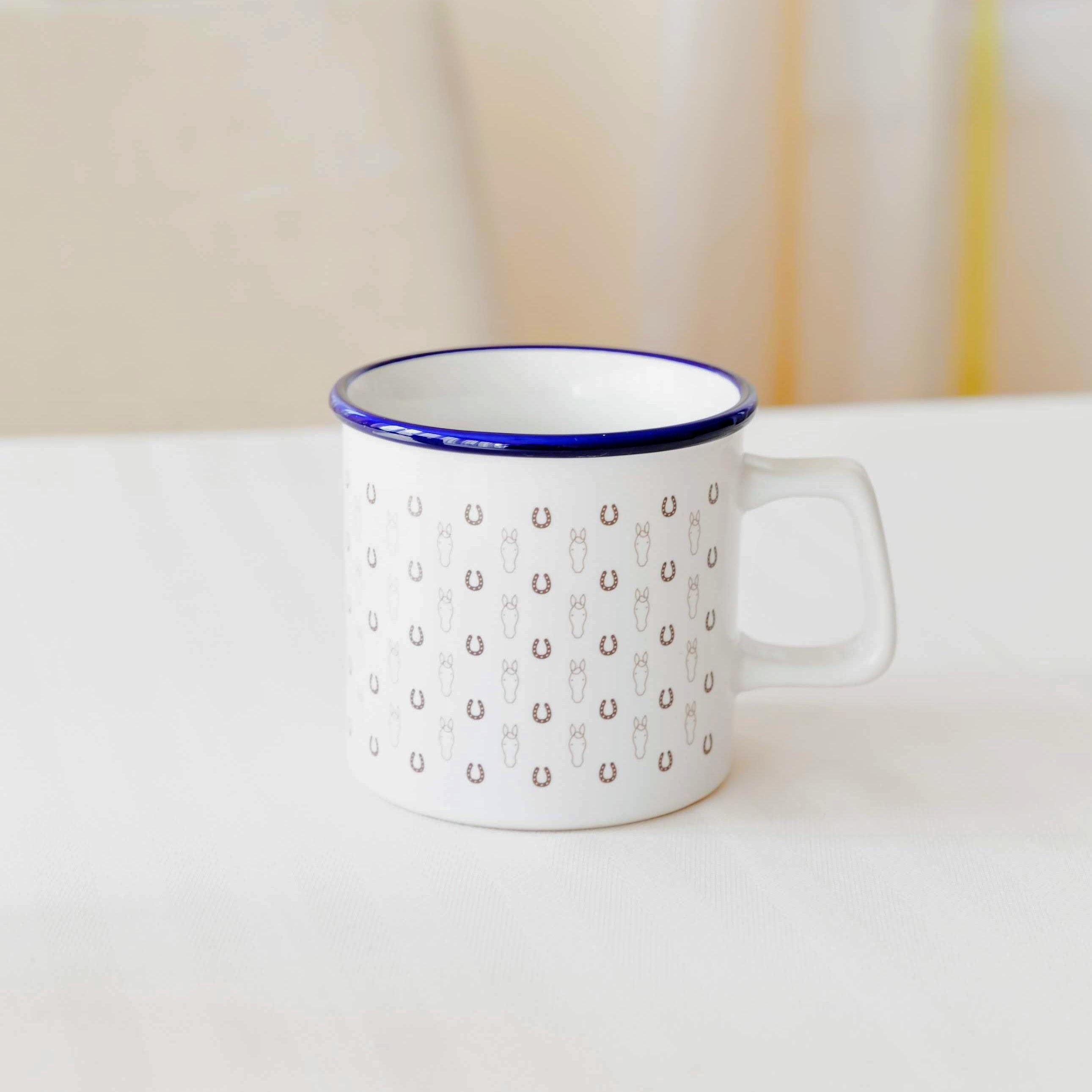 ウマグカップ(ブルー&ホワイト(受注生産))