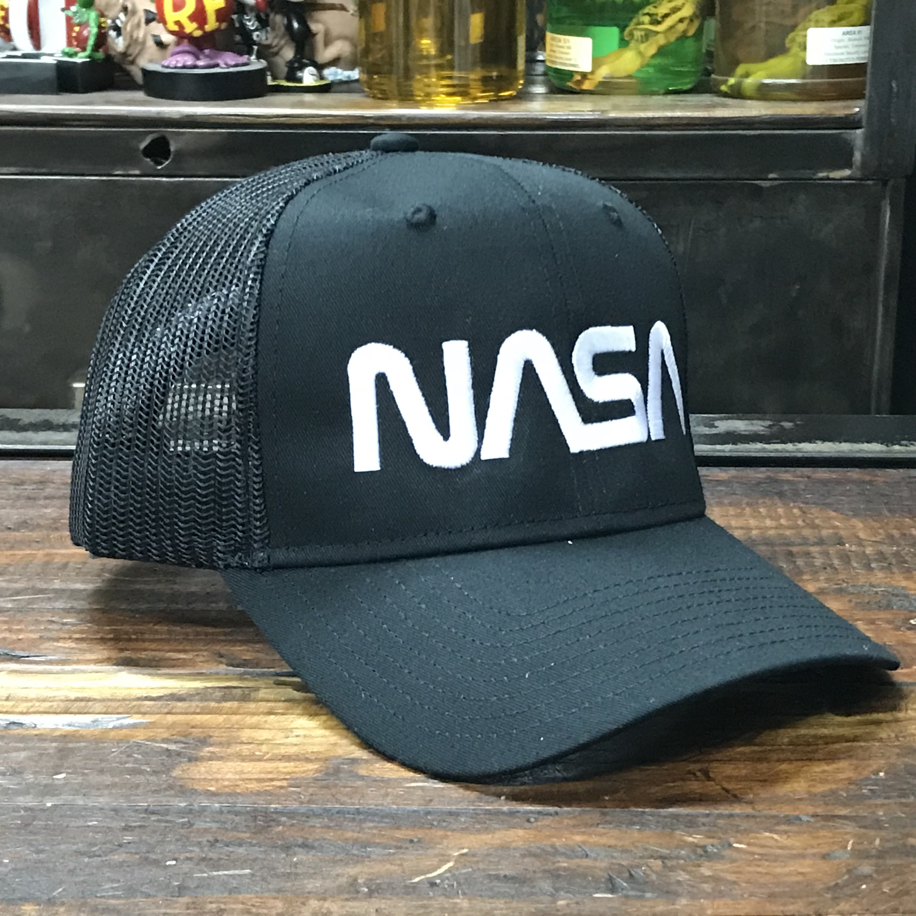 NASA OTTO(オットー)スナップバック・コットンメッシュキャップ・ロゴタイプ(ワーム)