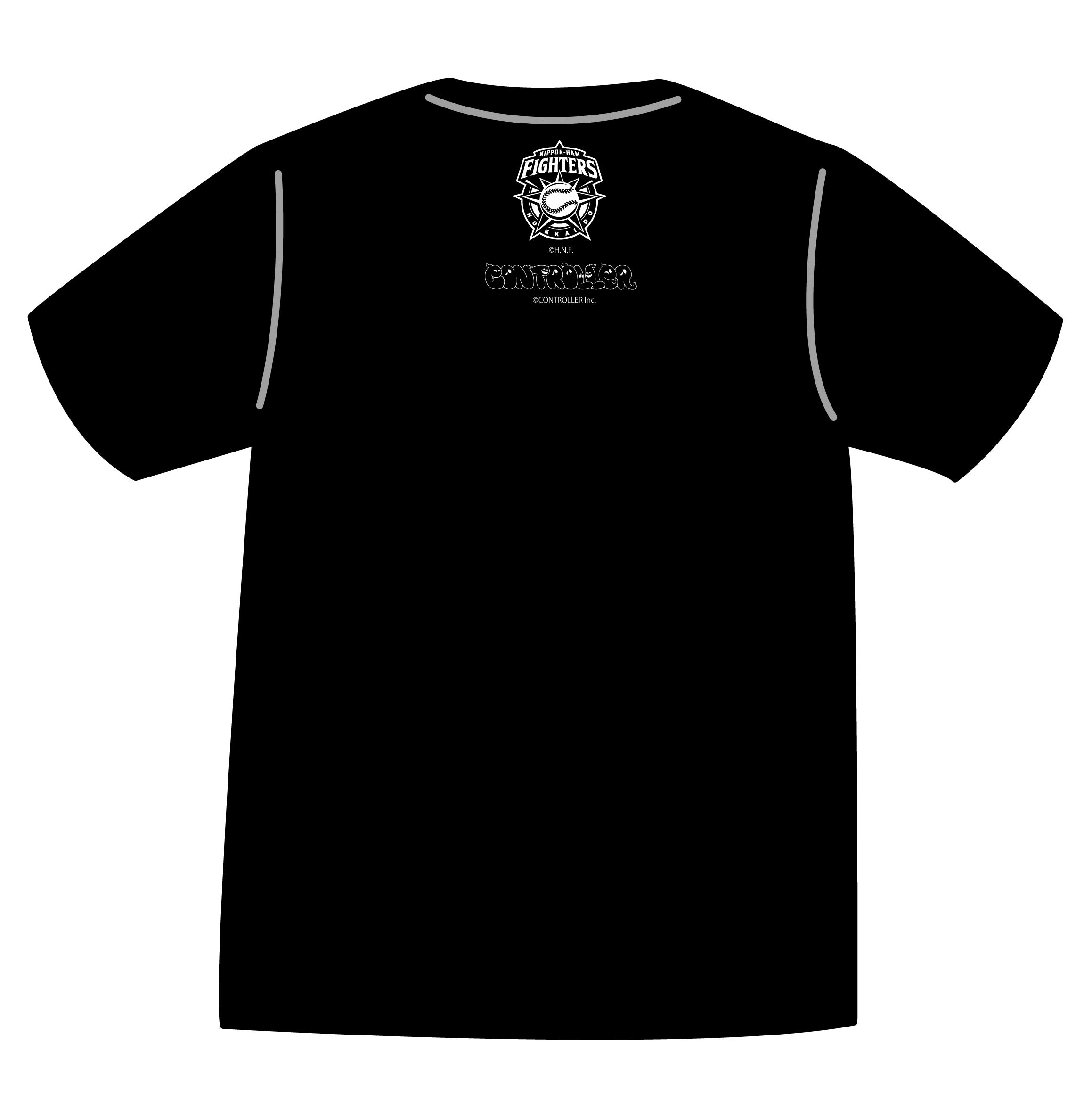 ドットファイターズ 「わん」 Tシャツ ブラック