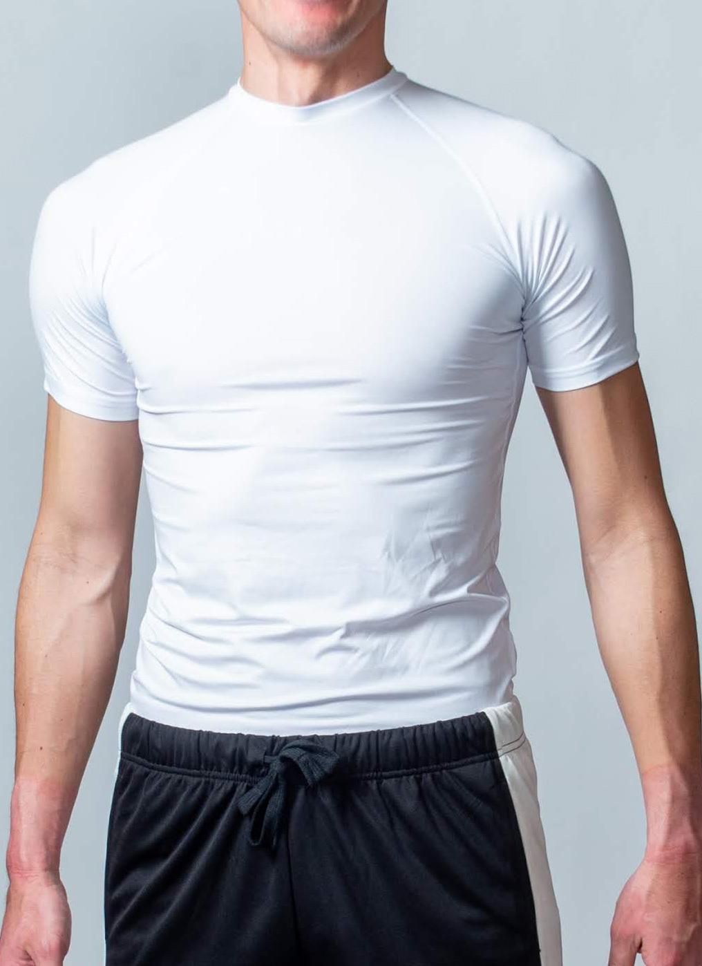 トレーニング時の動きをサポート「コンプレッションウェア(半袖)」 (ホワイト)