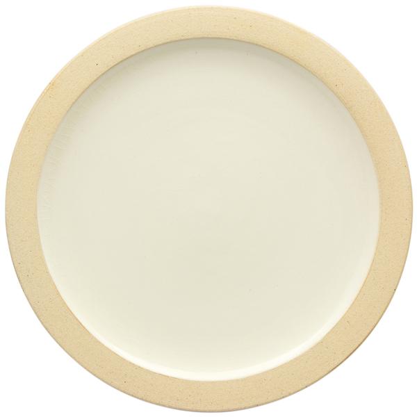 出西窯 縁焼〆皿 7寸 白