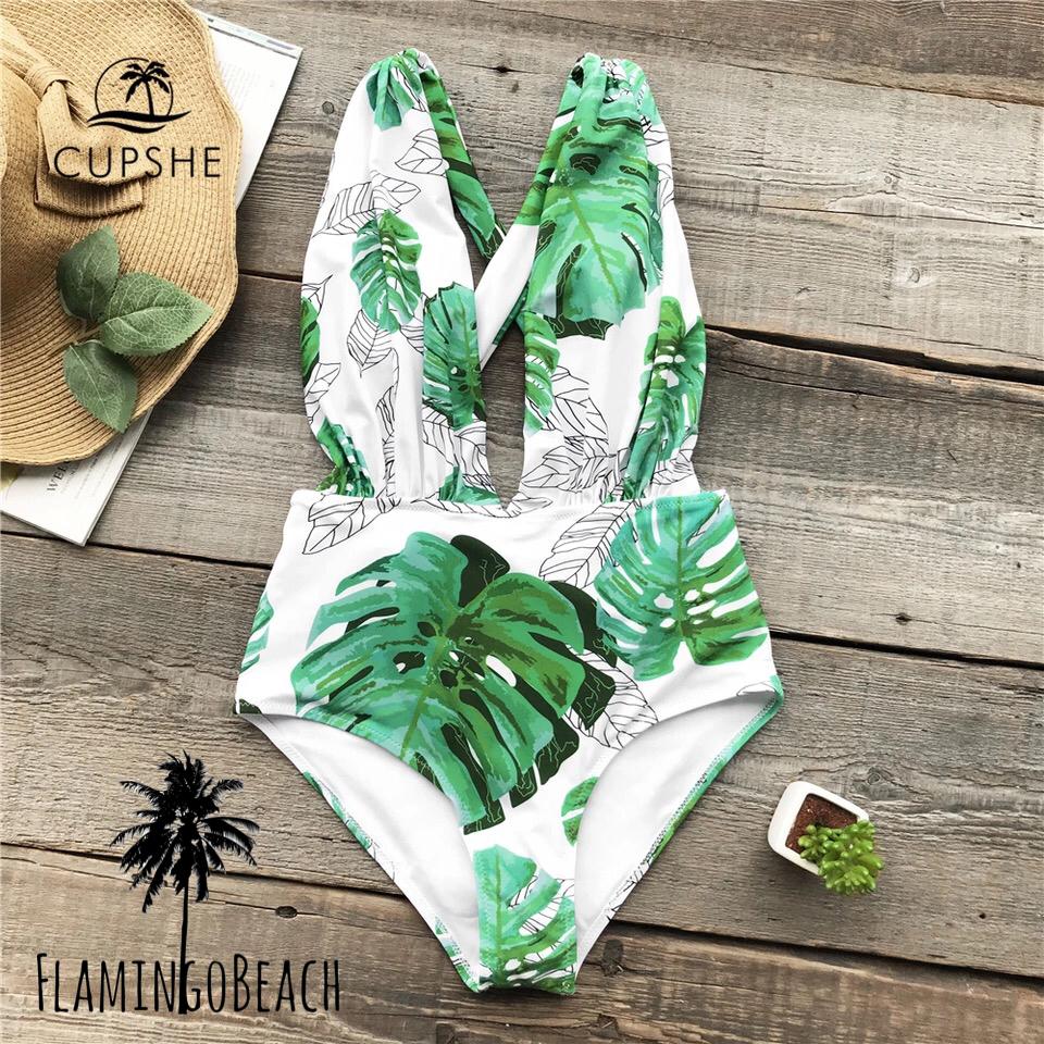 【FlamingoBeach】leaf cut monokini モノキニ