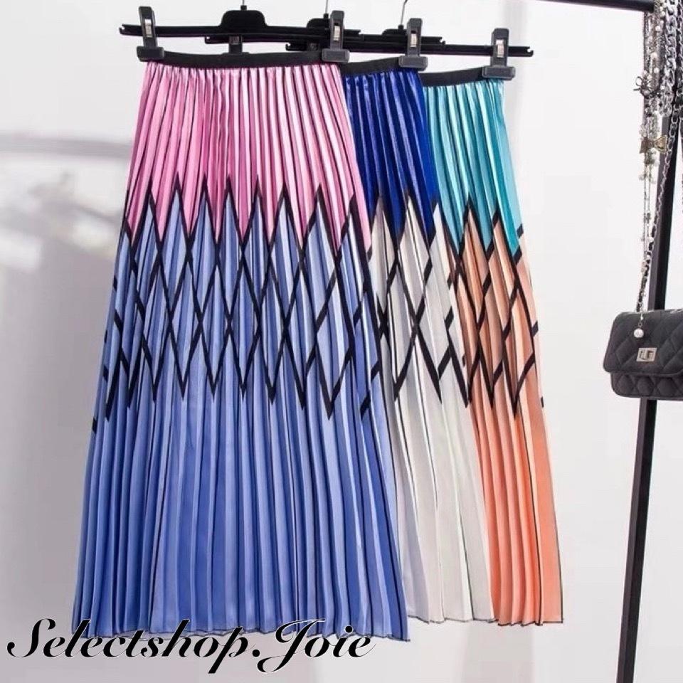 ラインミッドカーフスカート 3色展開
