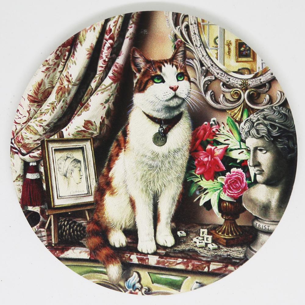 猫コースター(アンティークキャット)リビング