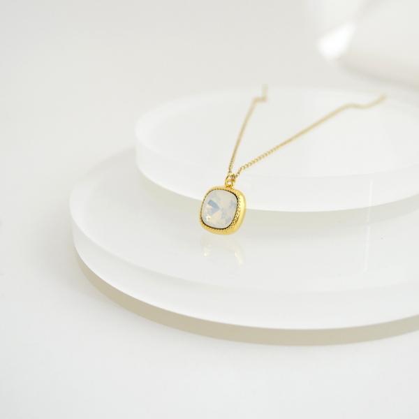 Swarovski(White Opal) Necklace