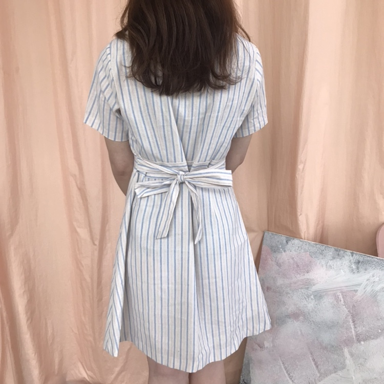 girly stripe mini one-piece