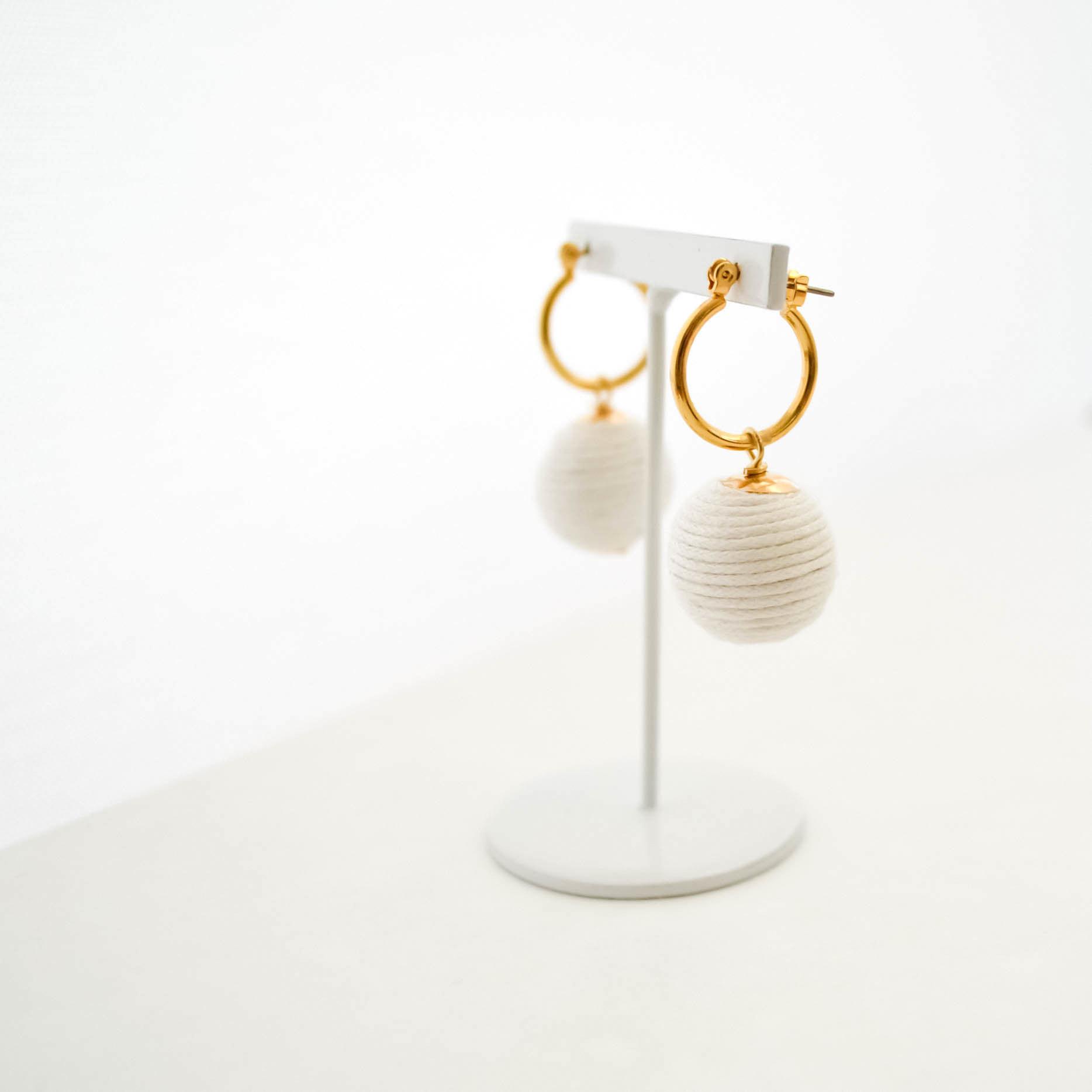 【期間限定】Cottoncode (white) Pierces/Earrings