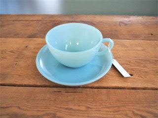 品番0213 ファイヤーキング ターコイズブルー カップ&ソーサー