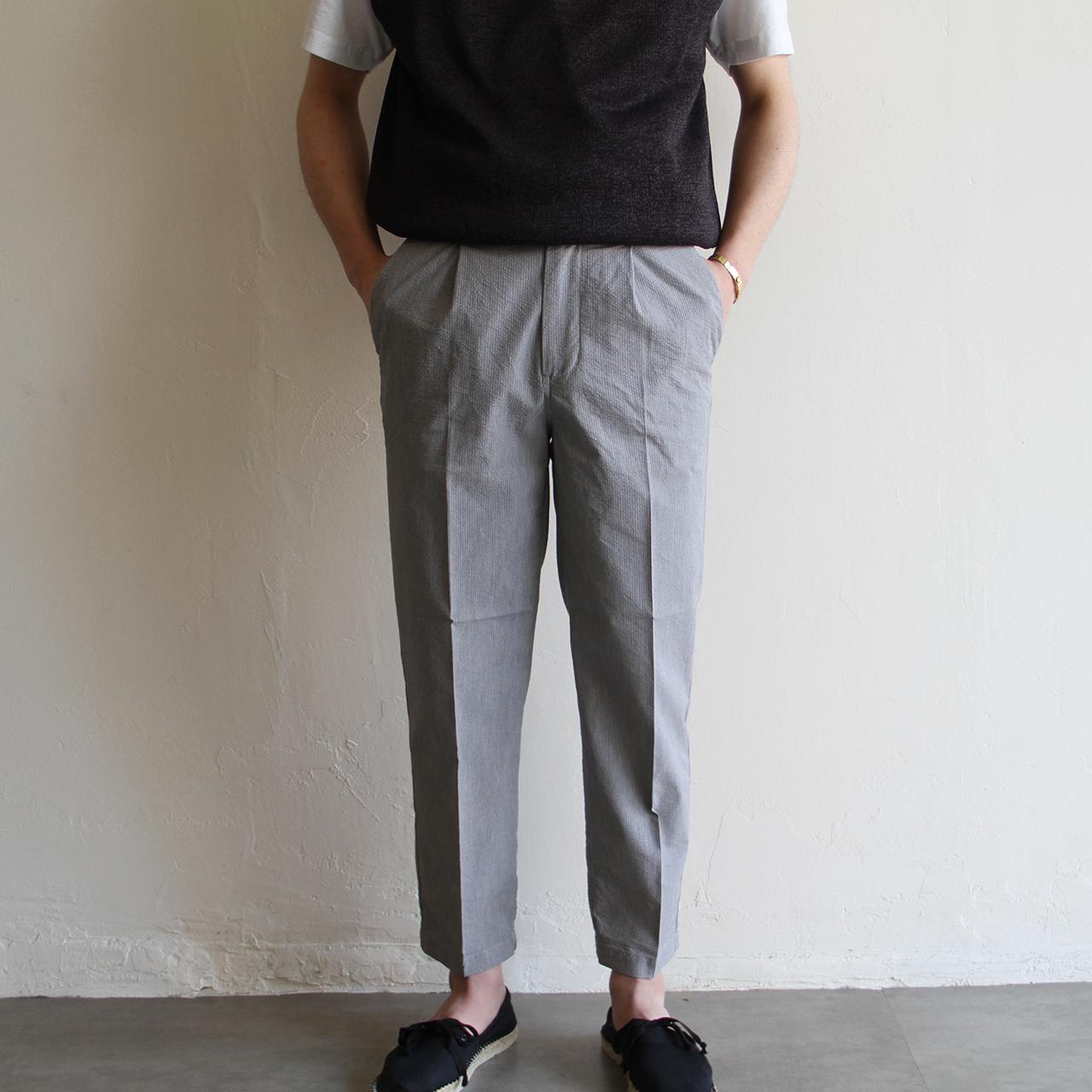 STILL BY HAND【 mens 】sucker tuck pants