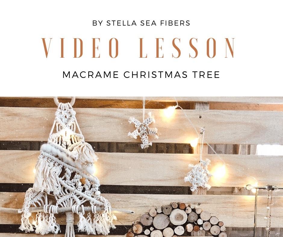 マクラメクリスマスツリー<動画+PDF>