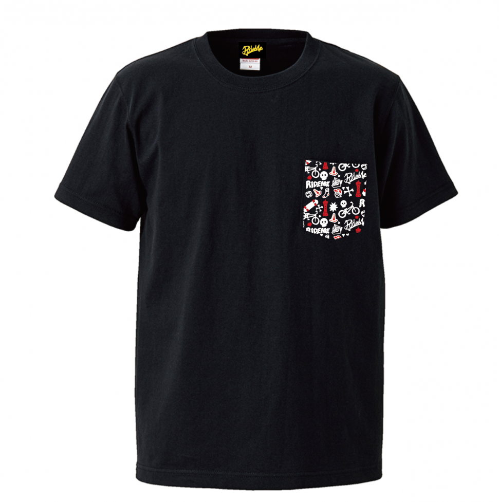 【RideMe | ライドミー】 Big Silhouette Pocket TEE(BLACK)