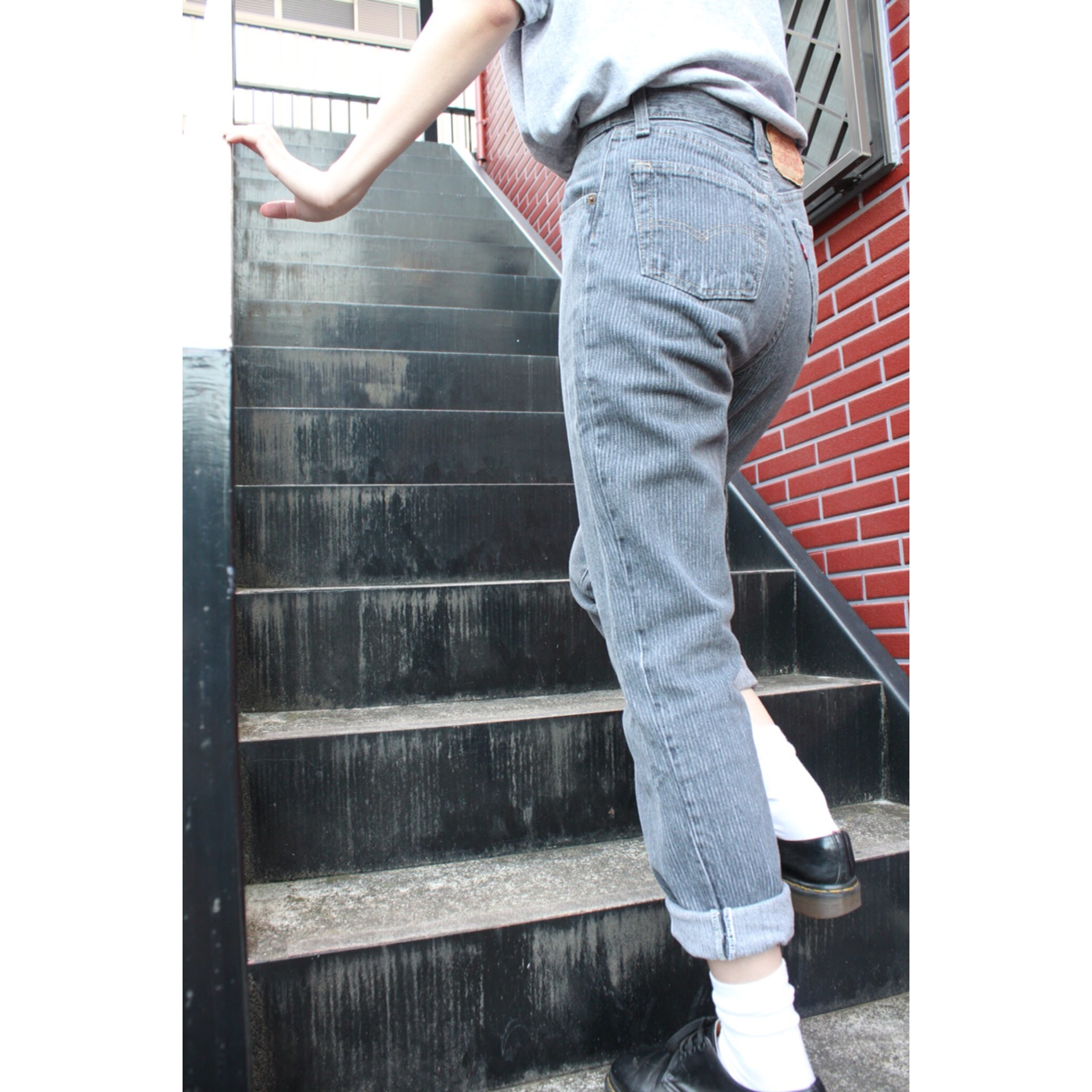 Vintage stripe denim pants by Levis