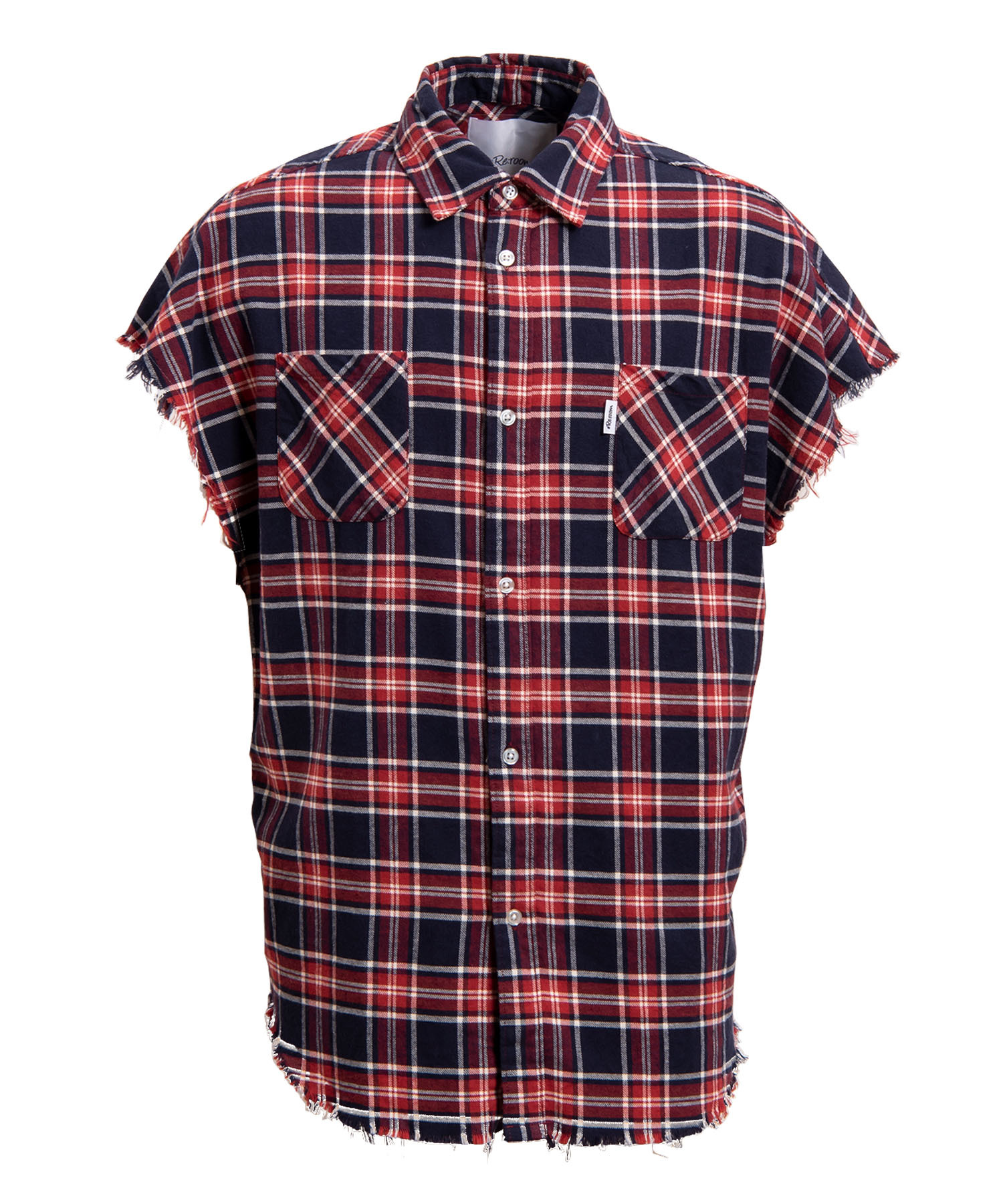 VINTAGE NO-SLEEVE CHECK SHIRTS[RES026]