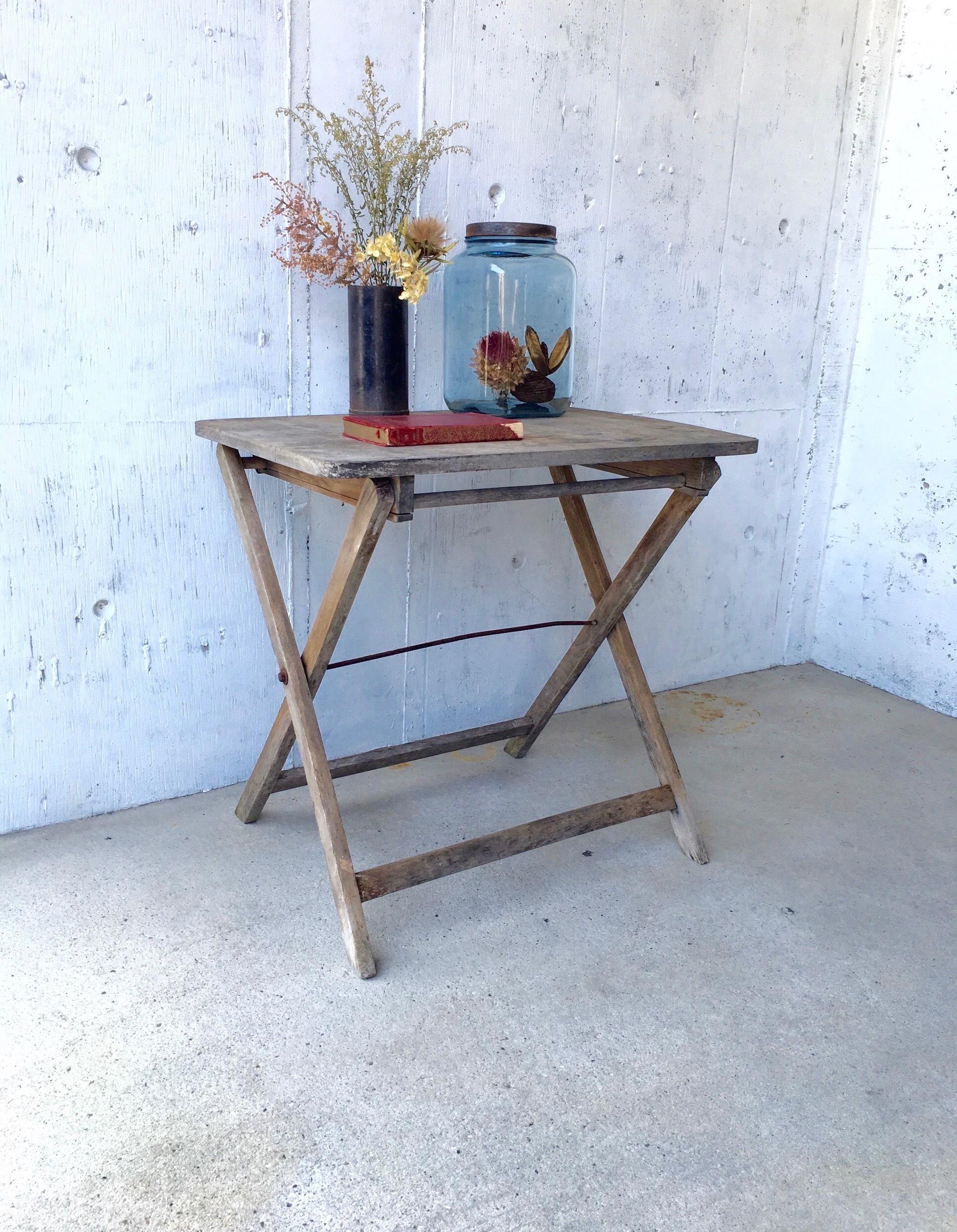 木味の折りたたみテーブル[古家具]