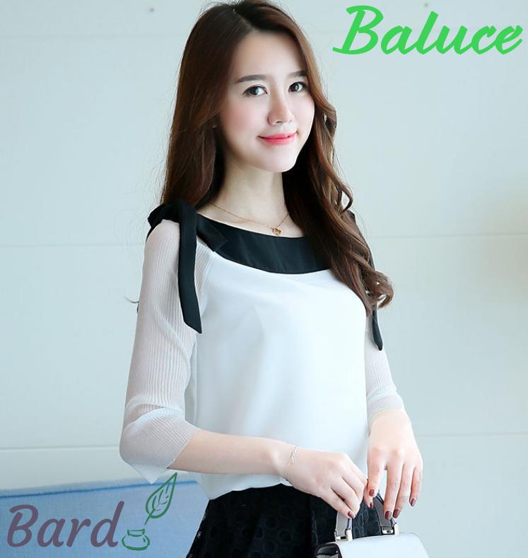 ブラウス レディース シフォン オフィス シャツ 半袖 通勤 優雅 トップス 韓国ファッション