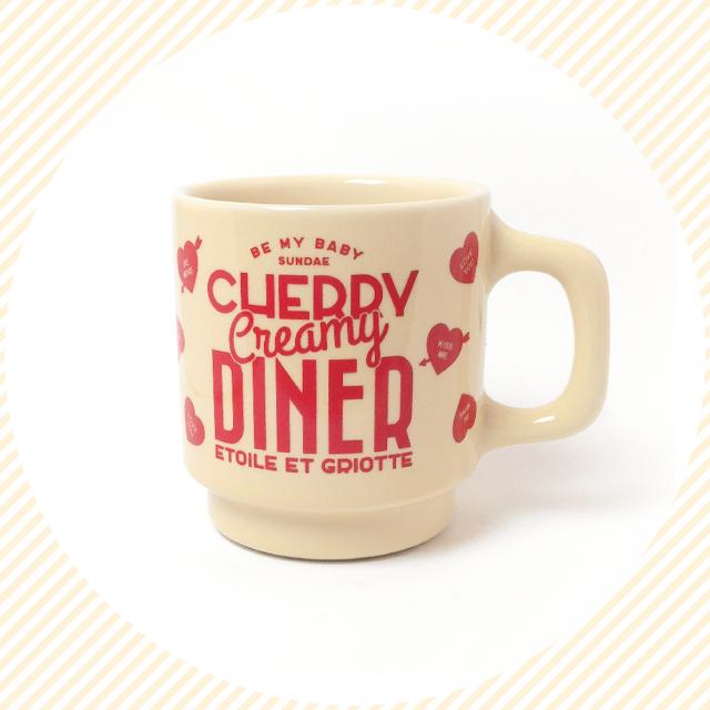 CHERRY CREAMY DINERマグカップ