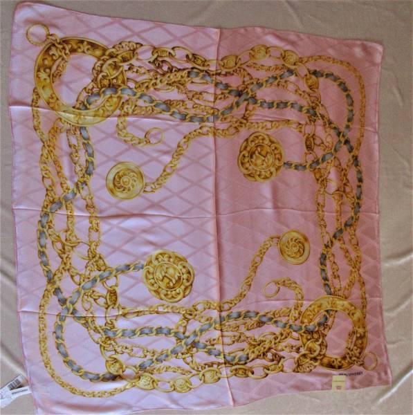 スカーフ HEMISPHERES シルク ピンク 新品