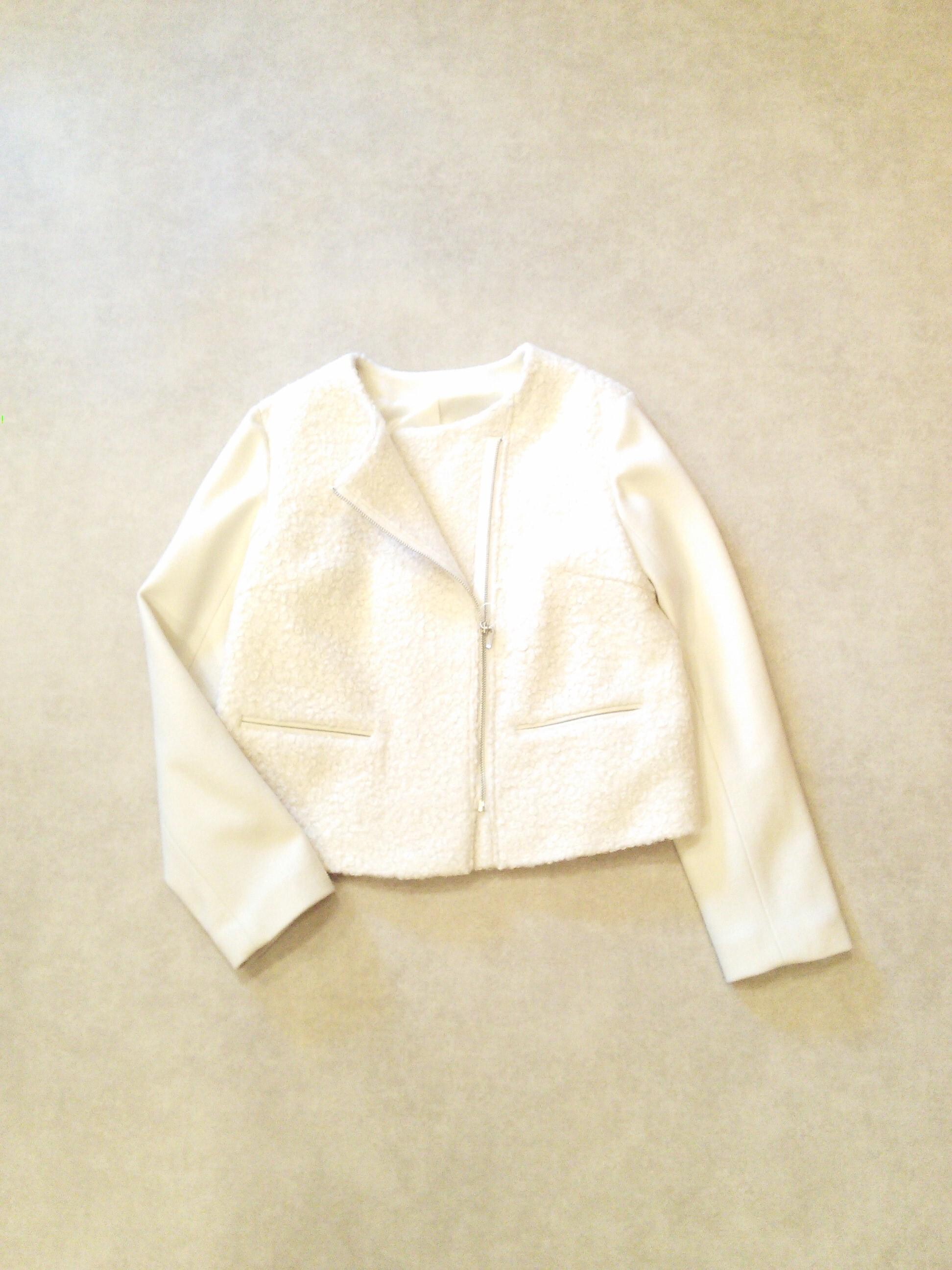 19275  圧縮ループヤーン・ライダースジャケット