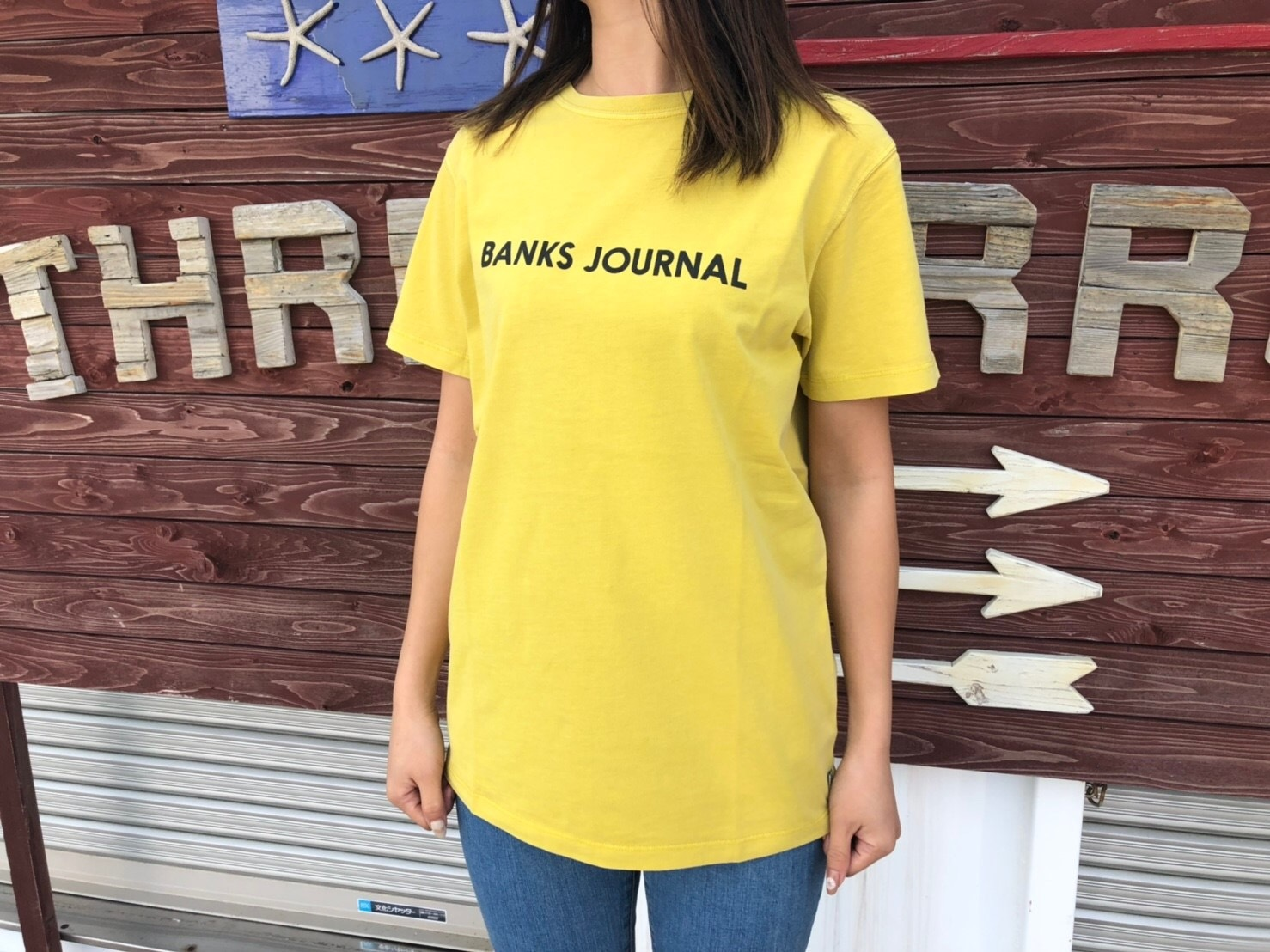【Ladies】BANKS JOURNAL Tシャツ (old yellow)