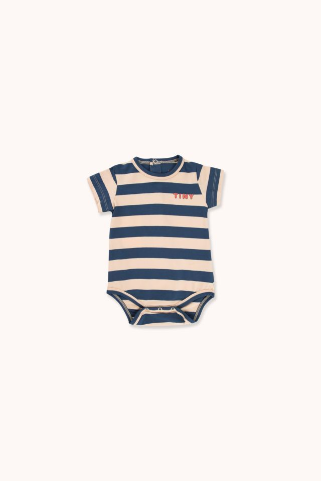 "TINYCOTTONS タイニーコットンズ ""TINY"" STRIPES BODY size:6M(60-70)・9M(70-80)"