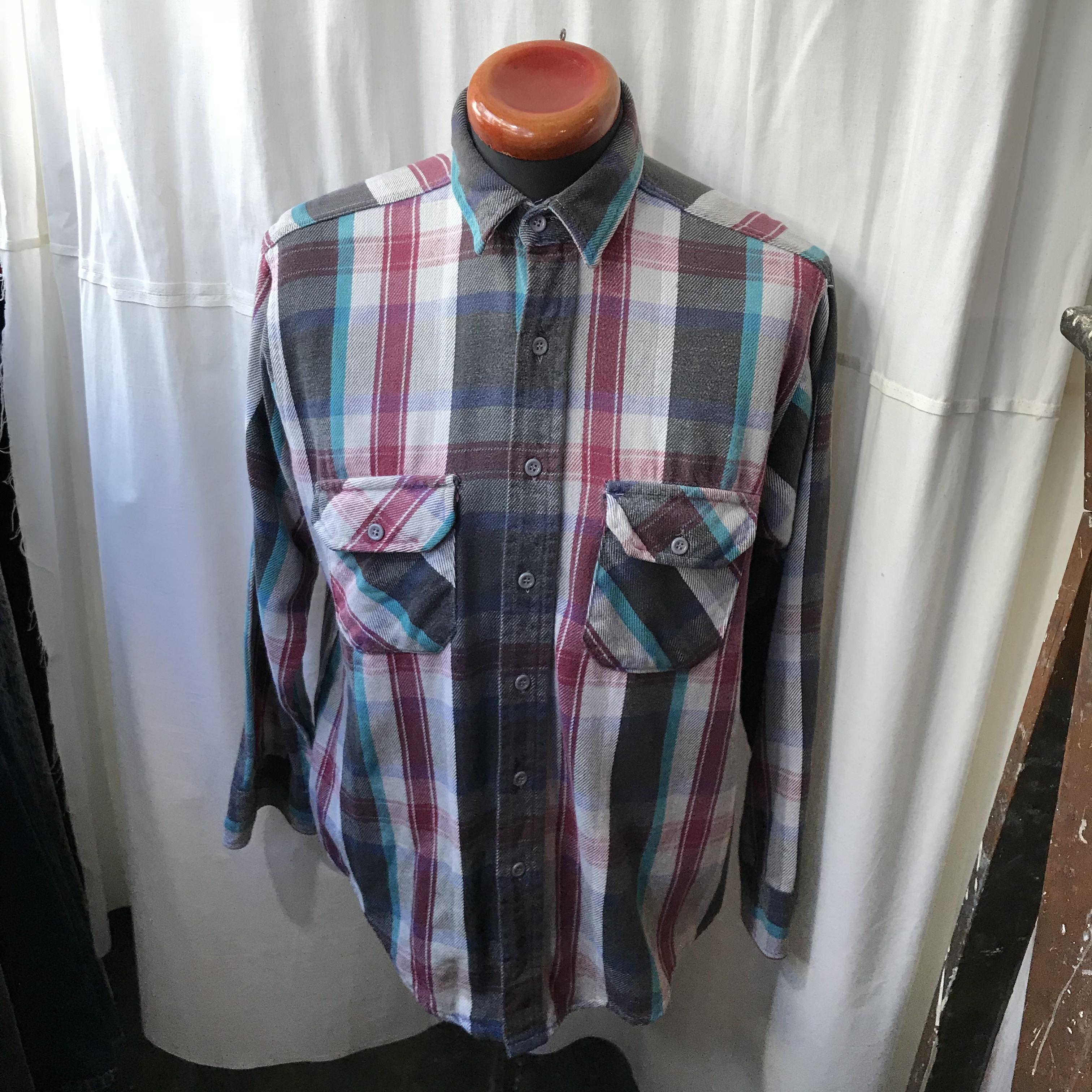 アメリカ製 70's~80's old Frostproof ヘビーネルシャツ メンズL