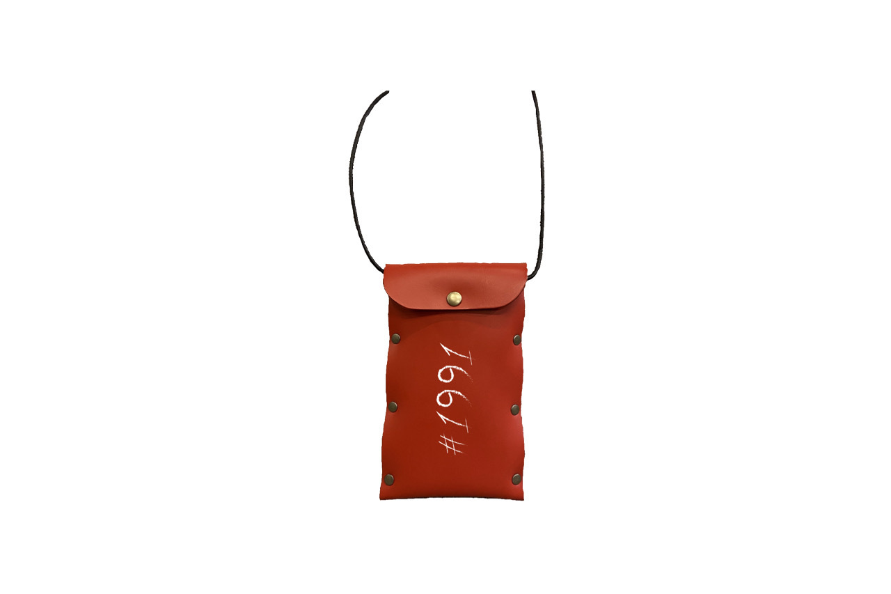 1991 leather mini bag (RED)