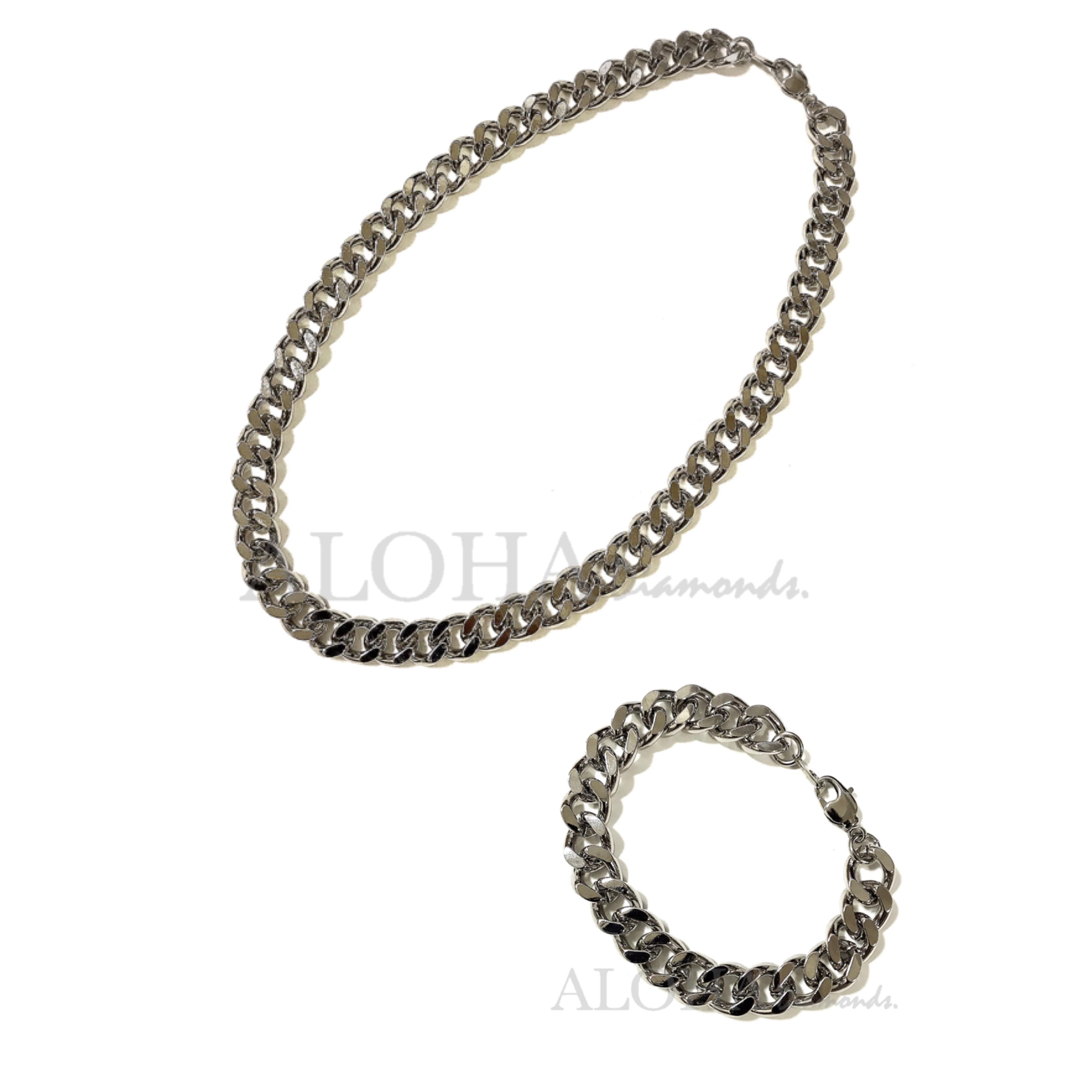 ✴︎✴︎✴︎The chain - No.1✴︎✴︎✴︎シルバー/ネックレス・ブレスレット セット