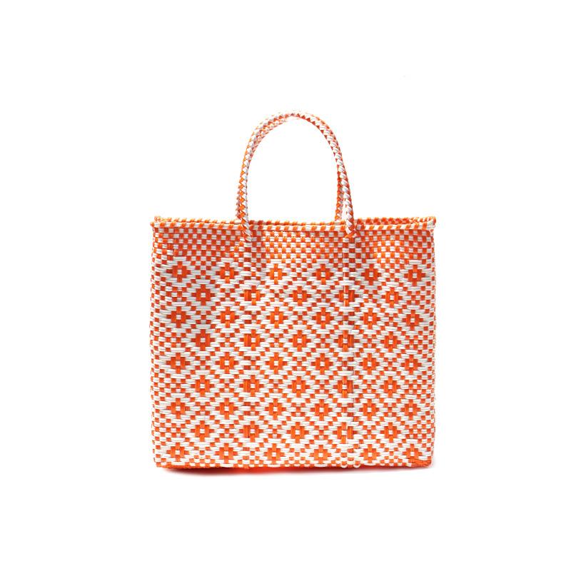 MERCADO BAG ROMBO - White x Orange(XS)