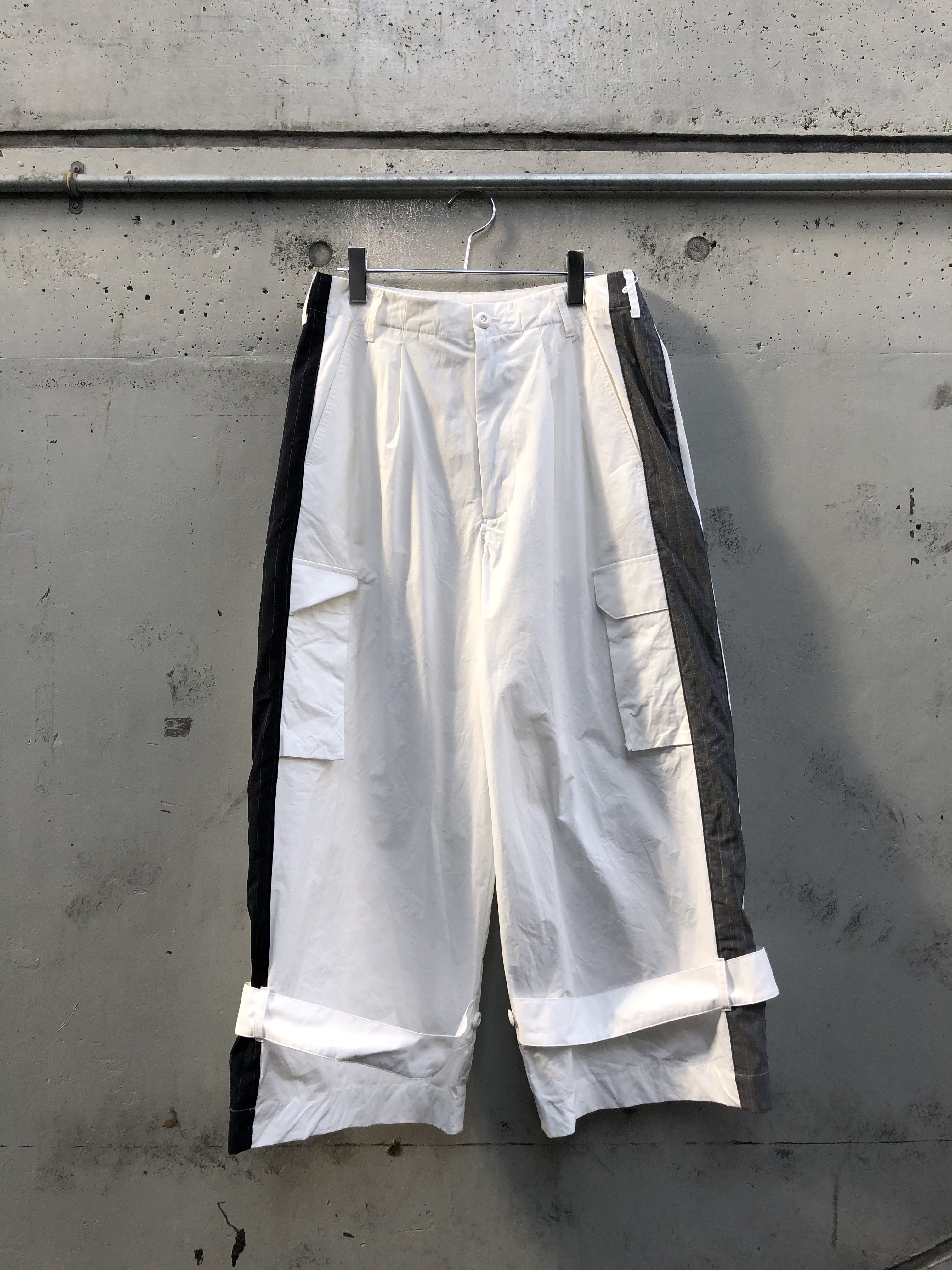 『my beautiful landlet』rip stop wide cargo pants/WHITE SIZE 0