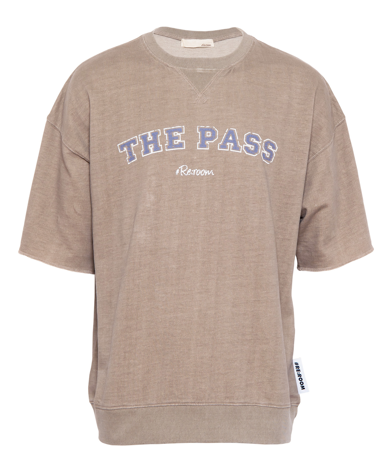 "WASHED VINTAGE SWEAT BIG T-shirt ""THE PASS""[REC382]"