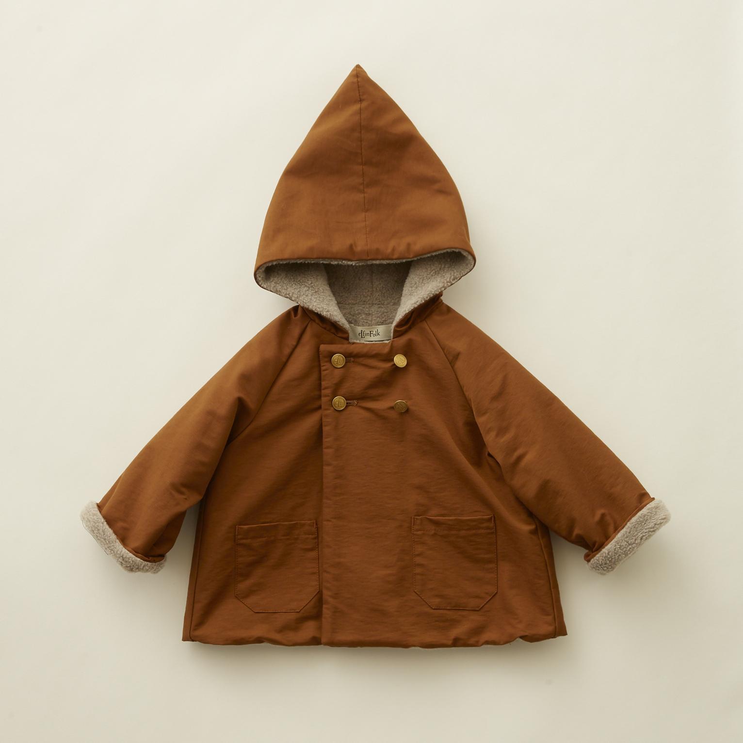 《eLfinFolk 2020AW》elf coat / brown / 90-100cm