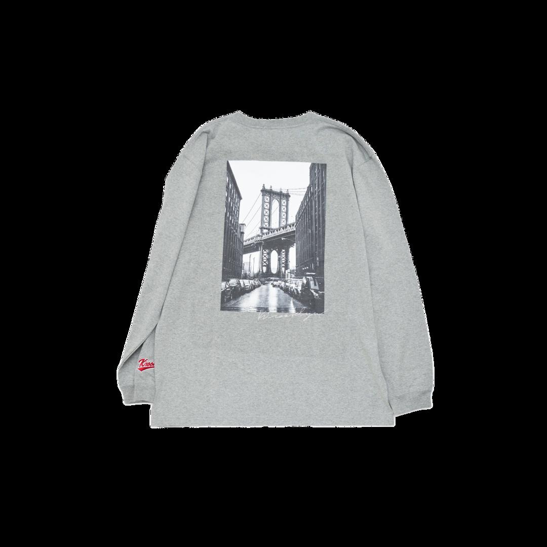 K'rooklyn Long T-Shirt × cherry chill will. - Gray