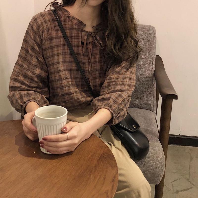 【送料無料】ナチュかわブラウス♡ 七分袖 シャーリング シャツ トップス