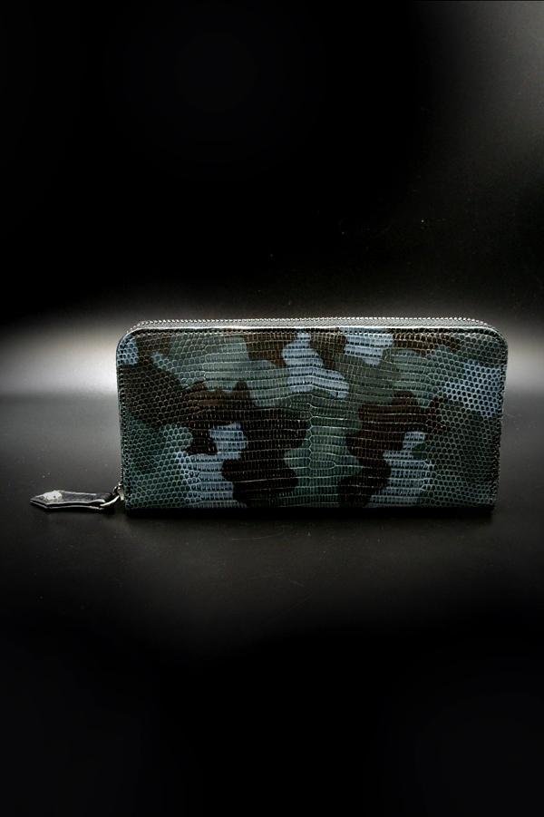 Item No.0313: Round Zip Wallet/Lizard