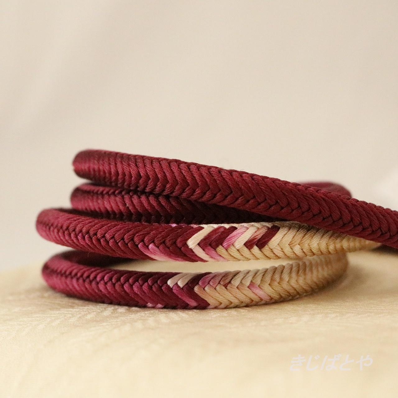 正絹 丸組の帯締め 京紫