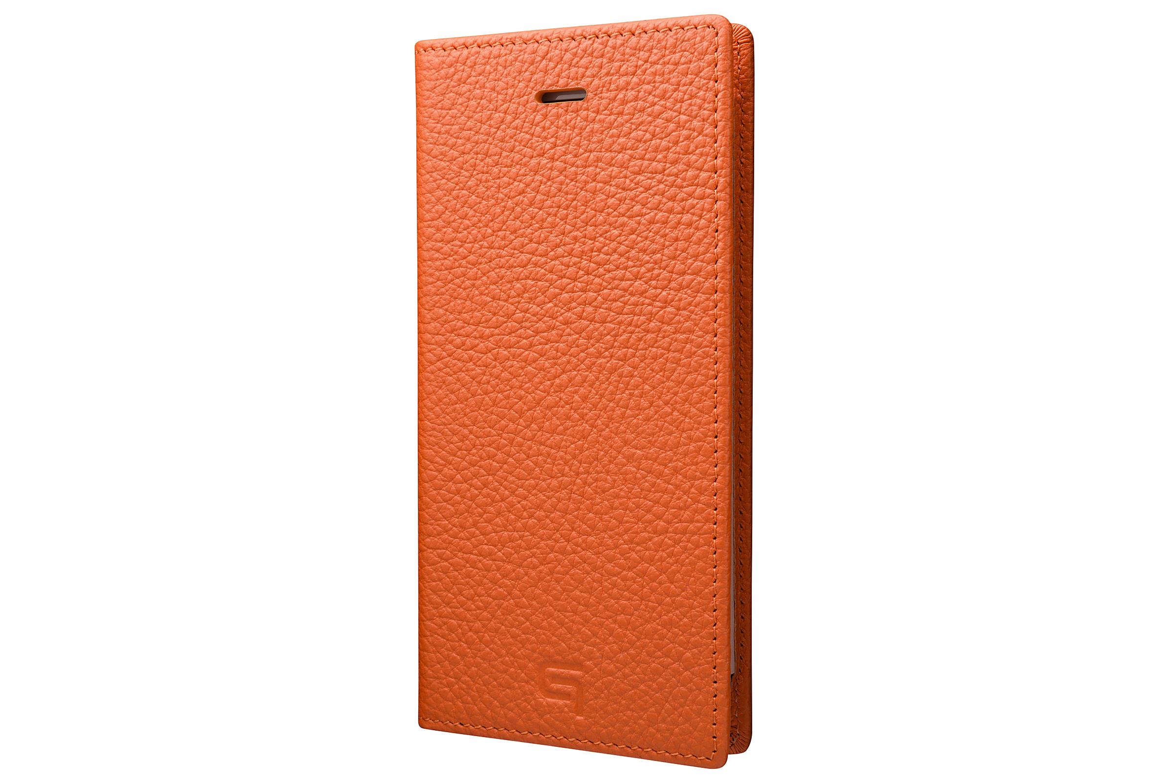 GRAMAS Shrunken-calf Full Leather Case for iPhone 7(Orange) シュランケンカーフ 手帳型フルレザーケース - 画像1